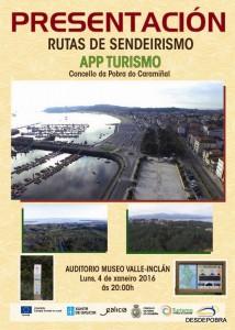 Cartel presentación rutas sendeirismo